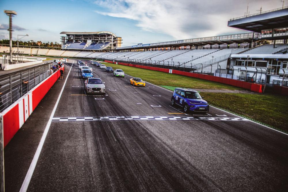 Fahren auf der Grand-Prix Strecke